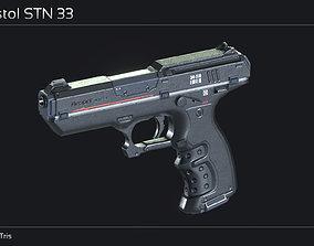 3D model Scifi Pistol STN 33