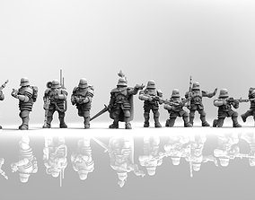 Feudal guard laser gun squad 3D print model