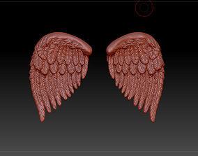 3D model wings feather