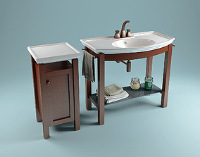 3D model wood Lineatre Washstand