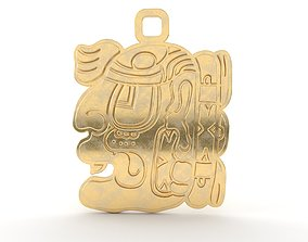 Mayan native glyph pendant 11 3D print model