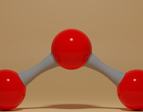 3D model O3 Ozone Molecule