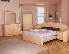 3D model Bedroom Furniture 16 Set