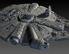 3D Star Wars Falcon Ship