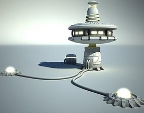 Futuristic Sci Fi Building 3D asset