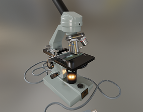 3D model rigged Microscope