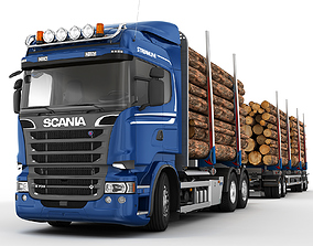 3D model Scania R 730 Timber