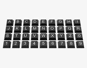 3D asset Keyboard Button Set