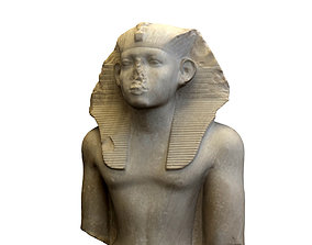 Statue of Egyptian King Senusret 3D model