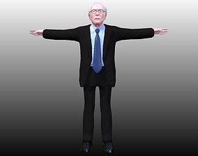 Bernie Sanders low poly 3D asset