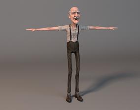 3D asset Old man