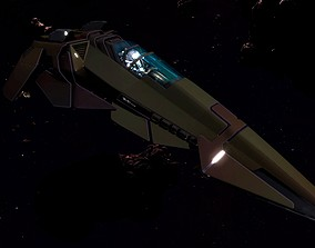3D asset WIPE OUT - XF SPACE FIGHTER