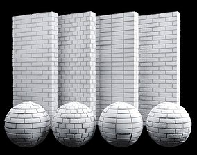 Clean White Brick Tiles Texture PBR 200 x 200 cm 3D model