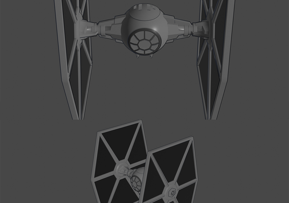 Tie-Fighter - Toon Shader