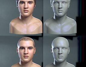 3d printable model Elvis Presley head