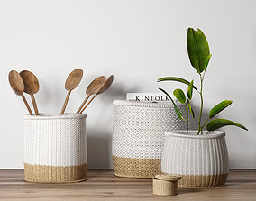 other Decorative set with baskets 3D model