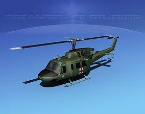 Bell UH-1N Armi Medevac 3D