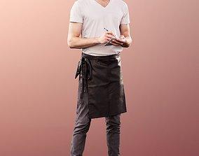 11236 Milo - Man Bartender hipster taking 3D