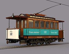 3D asset Old retro tram Herbrand vnb 125