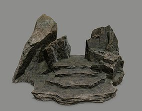 mossy Stone 3D model low-poly
