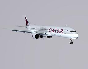 3D asset Airbus A350-900 Qatar