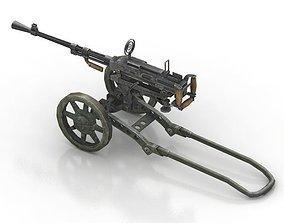 WW2 Anti-aircraft Gun 3D model
