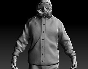 3D model Man in Chemical Protection Suit