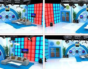 3D TV Show Studio Decorate