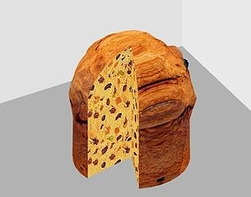 3D asset game-ready Simple Panettone with textures