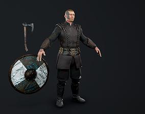 3D model rigged Viking