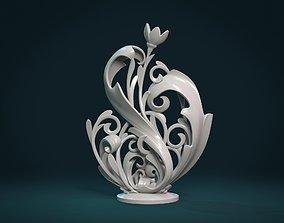 Scroll plant Sculpture 3D printable model