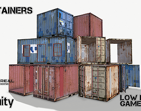 Containers 3D asset
