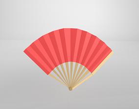 Paper Fan v1 002 3D asset