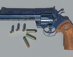 3D Revolver Magnum 357