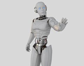 Cyborg white 3D model