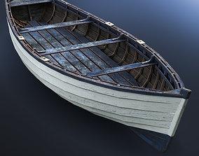 old 3D model Boat wooden