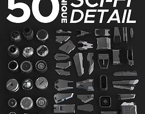 3D model Sci-Fi Details Kit-Bash Set