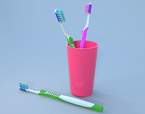3D Simple Toothbrush bristle