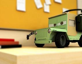 Cars 2 Sarge jeep obj Maya Binary 3D model