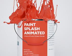 Paint Splash 3D animated