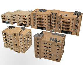 middle east buildings 3D model
