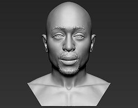 Tupac Shakur bust 3D printing ready stl obj