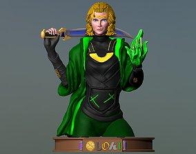 3D print model Bust Sylvie - Lady Loki - DisneyPlus