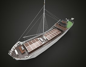 fishing sailing ship 3D model