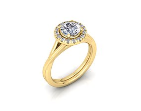 Solitaire Ring 26 3D print model