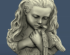 3d STL model for CNC Girl with a pigeon