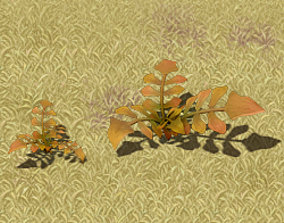 Cartoon version - wasteland vegetation 3D model