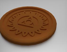 Vishuddha Throat Chakra Coaster 3D printable model