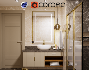 Modern Bathroom Interior interior-design 3D model