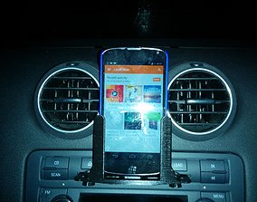 3D print model CD player phone bracket